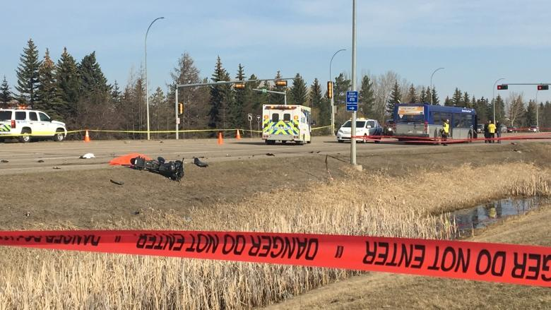 Motorcyclist, 24, killed in collision with ETS bus in north Edmonton
