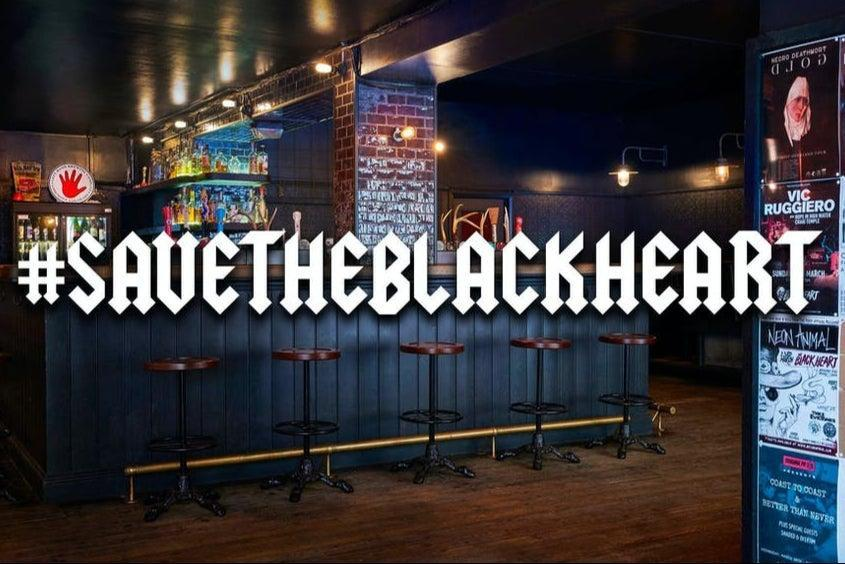<p>'Serious trouble': The north London venue said it has received no support from the Government or its landlords</p> (The Black Heart)