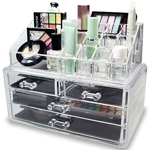 <p>Keep everything organized and accessible with this <span>Ikee Design Acrylic Makeup Storage Set</span> ($16).</p>