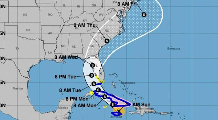 Tropical Storm Elsa is forecast to affect the Columbia area this week.