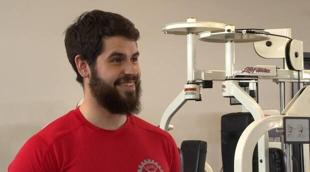T.J. Gear, pictured in this file photo, started powerlifting five years ago. (Jacob Barker/CBC - image credit)