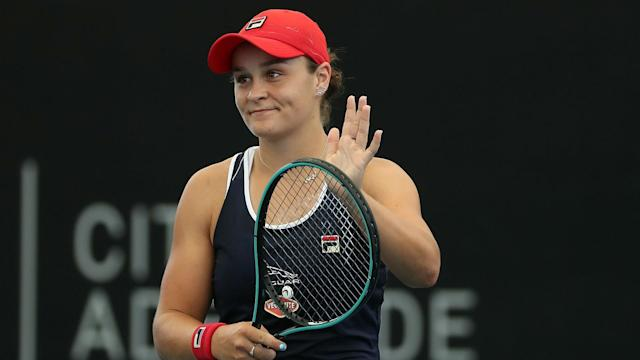 Anastasia Pavlyuchenkova put up an admirable fight against Ash Barty at the Adelaide International, but the world number one did enough.