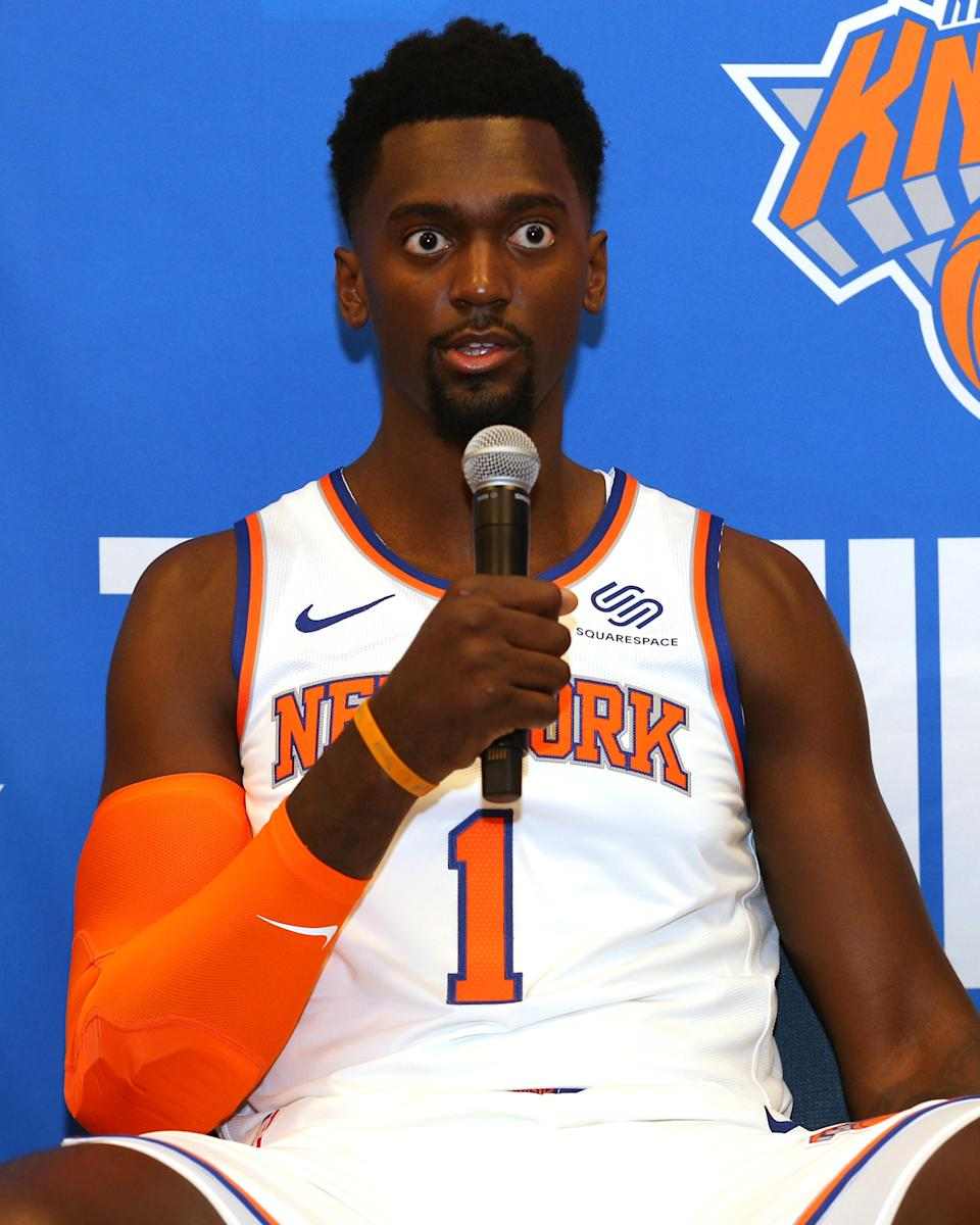 """""""Hold on, how many power forwards did the Knicks sign this summer?"""" — Bobby Portis, I expect"""