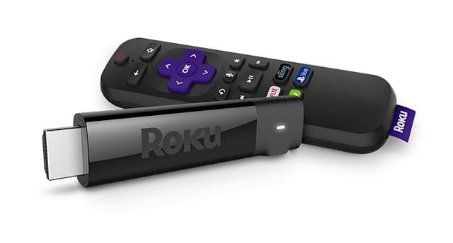 The Roku Streaming Stick Plus offers 4K, HDR streaming and plays Google and Amazon content.