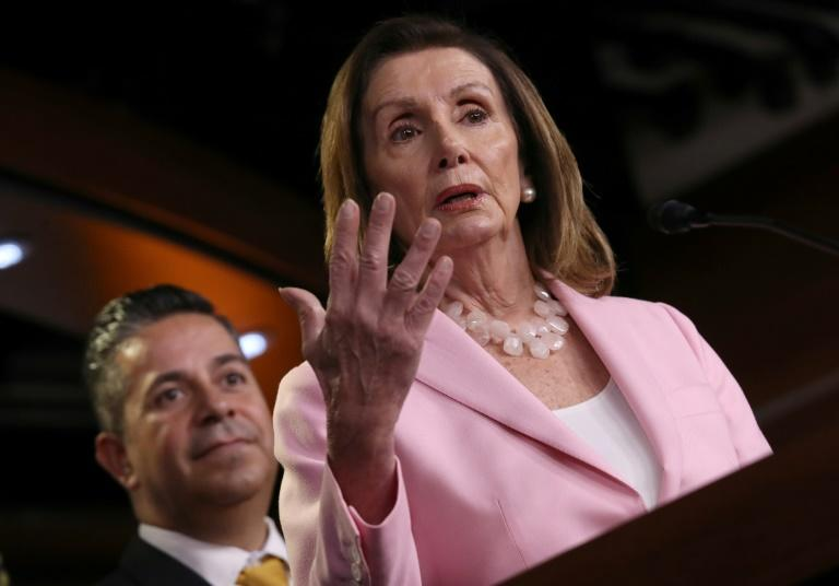 House Speaker Nancy Pelosi, who so far has been hesitant to start impeachment proceedings against Trump, signaled that could change (AFP Photo/WIN MCNAMEE)