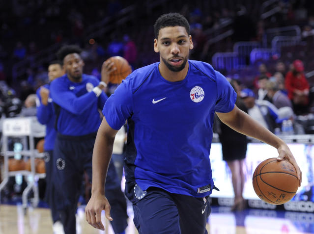 "<a class=""link rapid-noclick-resp"" href=""/nba/players/5434/"" data-ylk=""slk:Jahlil Okafor"">Jahlil Okafor</a> simply doesn't have a role with the 76ers. (AP)"