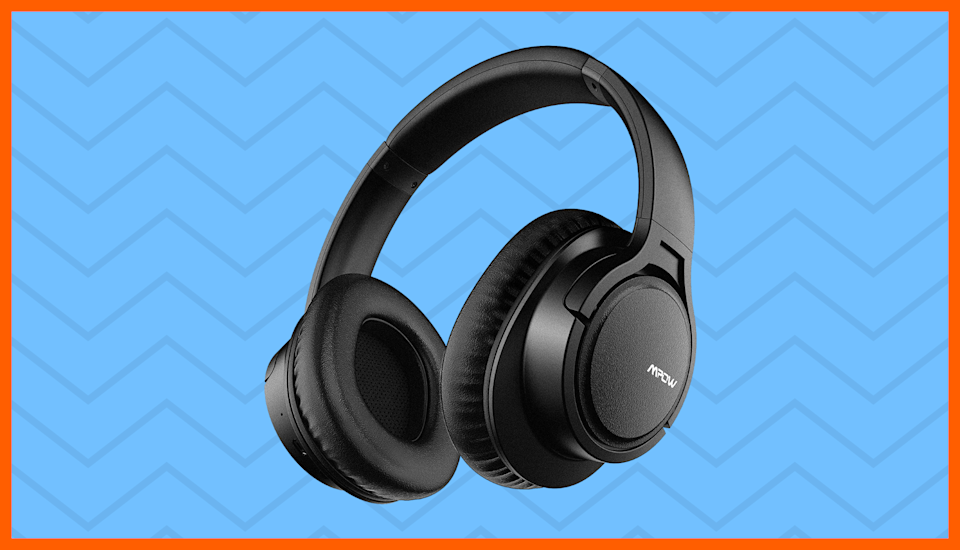 Music to your ears: These wireless headphones are on sale for just $14. (Photo: Amazon)