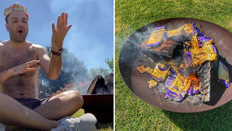 Bruno Bouchet has enraged followers by burning sought-after chocolate. Photo: Instagram/brunobbouchet/