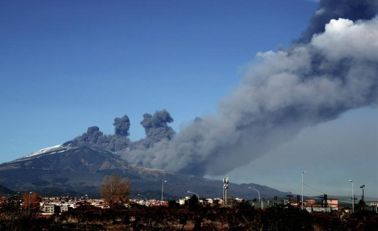 Mount Etna, a highly-active volcano, has erupted once again, triggering a small earthquake as well