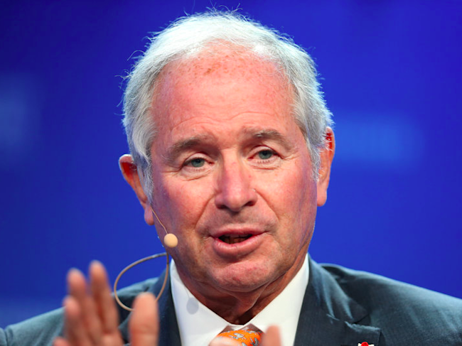 Stephen Schwarzman, Chairman, CEO and Co-Founder of Blackstone, speaks during the Milken Institute Global Conference in Beverly Hills, California, U.S., May 2, 2017. REUTERS/Lucy Nicholson