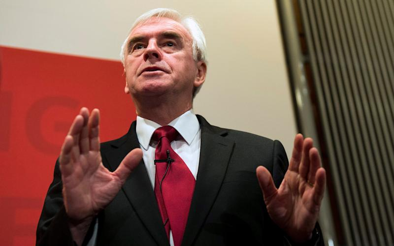 Britain's Shadow Chancellor of the Exchequer, John McDonnell - Credit: EPA/WILL OLIVER