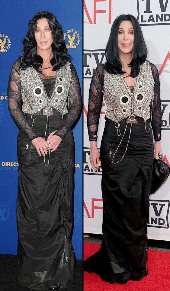 62nd Annual Directors Guild Of America Awards, 38th Annual AFI Life Achievement Awards (2010)    Fun fact: Same outfit, different wigs!