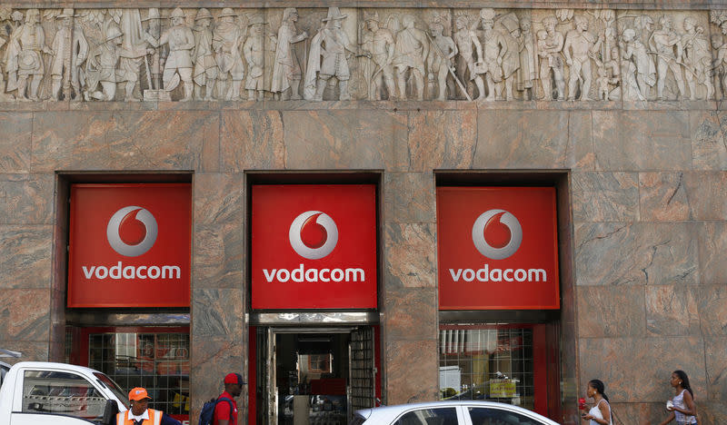 FILE PHOTO: A branch South African mobile communications provider Vodacom in Cape Town