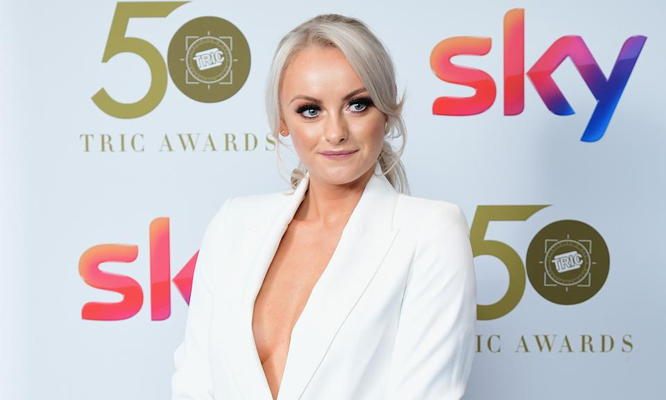 Katie McGlynn had to pull out of her panto job for the final few shows. (Photo by Ian West/PA Images via Getty Images)