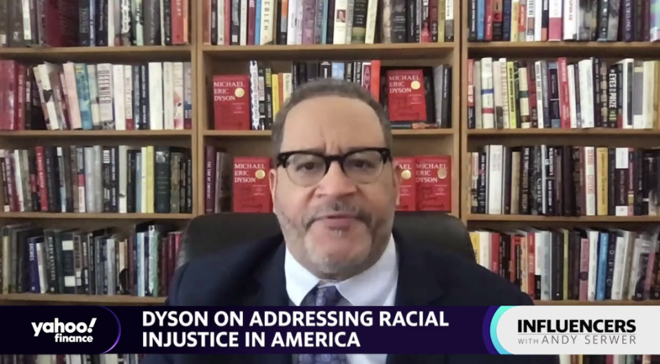 "Michael Eric Dyson, author and Georgetown University professor, appears on ""Influencers with Andy Serwer."""