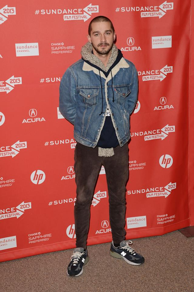"""PARK CITY, UT - JANUARY 21:  Actor Shia LeBouf attends """"The Necessary Death Of Charlie Countryman"""" premiere at Eccles Center Theatre during the 2013 Sundance Film Festival on January 21, 2013 in Park City, Utah.  (Photo by Jason Merritt/Getty Images)"""