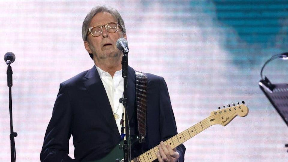 Eric Clapton attends the Music For Marsden 2020 at The O2 Arena on March 03, 2020