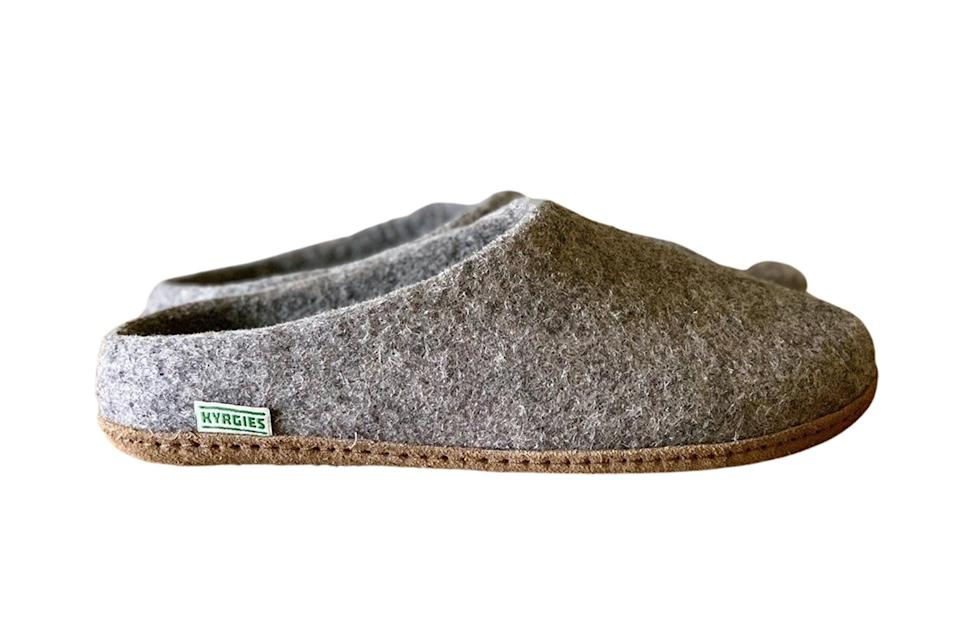 """$79, Made Trade. <a href=""""https://www.madetrade.com/collections/Kyrgies/products/kyrgies-low-back-gray-natural-leather-sole"""" rel=""""nofollow noopener"""" target=""""_blank"""" data-ylk=""""slk:Get it now!"""" class=""""link rapid-noclick-resp"""">Get it now!</a>"""