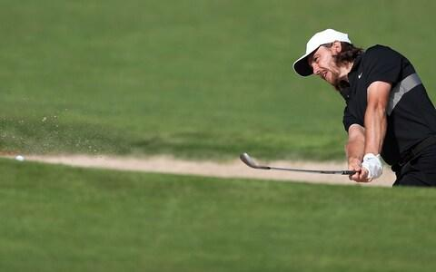 <span>Tommy Fleetwood went round in four-under on Friday to add to his five-under opening round</span> <span>Credit: ALI HAIDER/EPA-EFE/REX </span>