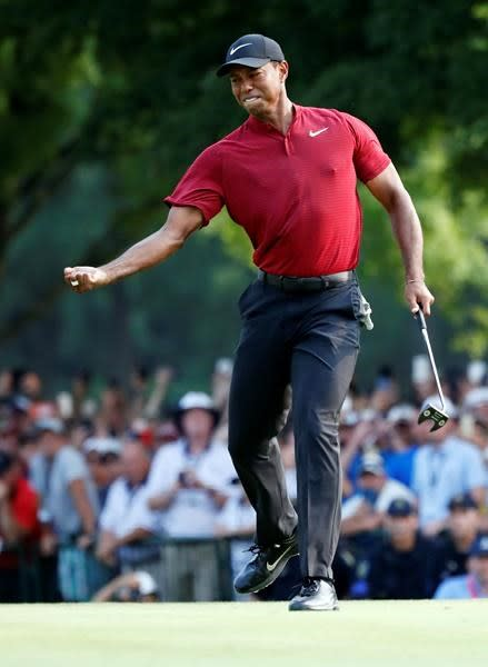 Woods' charge, Koepka's win drive strong PGA ratings