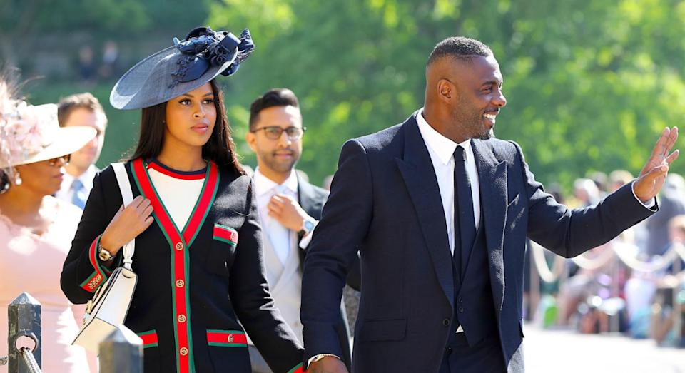 The pair exchanged vows at the Ksar Char Bagh hotel in Marrakesh on Friday. [Photo: Getty]