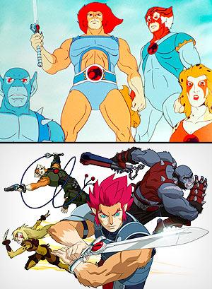 """Thundercats"" old (top) and new"