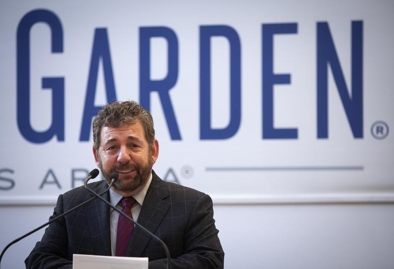 Dolan, President and CEO of Cablevision Systems and Executive Chairman of Madison Square Garden Company, speaks during a news conference to announce details of a newly renovated Madison Square Garden in New York