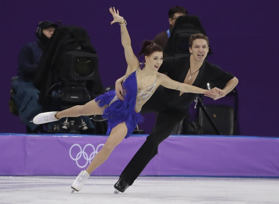 """Ekaterina Bobrova said the support of Russia fans at the Winter Olympics has made her feel """"as if we were at home."""" (AP)"""