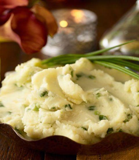 """<p>Buttery mashed potatoes are the perfect accompaniment to a <a href=""""https://www.womansday.com/food-recipes/food-drinks/g2649/gravy-recipe/"""" rel=""""nofollow noopener"""" target=""""_blank"""" data-ylk=""""slk:tasty gravy."""" class=""""link rapid-noclick-resp"""">tasty gravy.</a></p><p><em><a href=""""https://www.womansday.com/food-recipes/food-drinks/recipes/a22365/buttermilk-mashed-potatoes-thanksgiving-recipes/"""" rel=""""nofollow noopener"""" target=""""_blank"""" data-ylk=""""slk:Get the Buttermilk Mashed Potatoes recipe."""" class=""""link rapid-noclick-resp""""><strong>Get the Buttermilk Mashed Potatoes recipe.</strong></a></em></p>"""