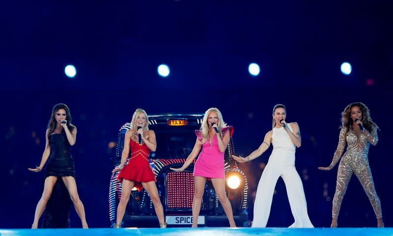 FILE PHOTO: The Spice Girls perform during the closing ceremony of the London 2012 Olympic Games