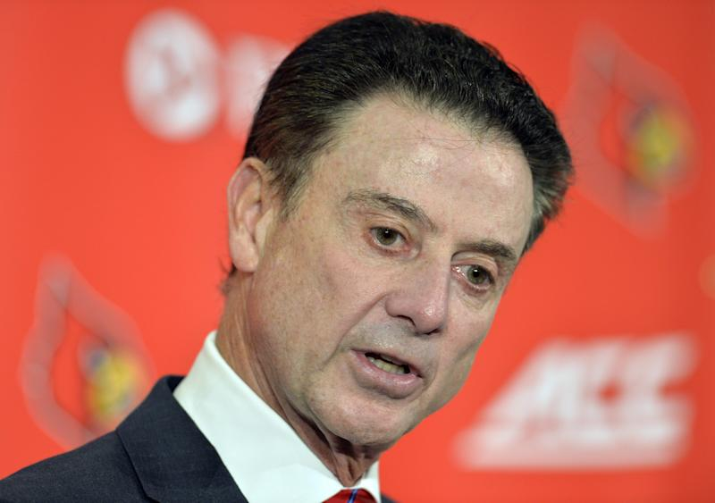Rick Pitino and Louisville await a ruling on the violations from the program's escort scandal. (AP)