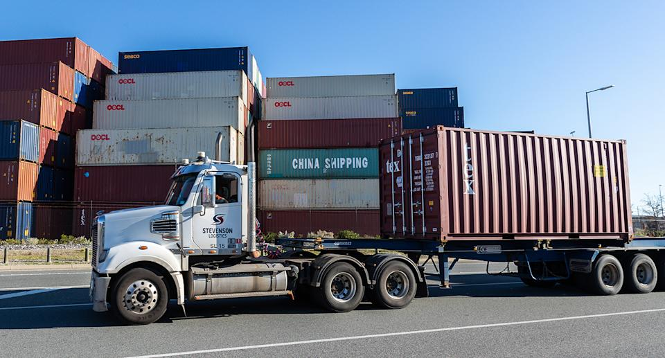Truckies warn Aussie to stock up on groceries amid strike threat. Source: AAP