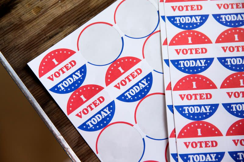 FILE PHOTO: Voters cast their ballot in the Democratic primary in Philadelphia