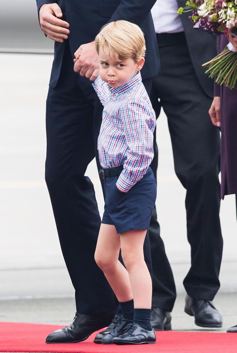 Prince George is taking after his grandmother. Photo: Getty