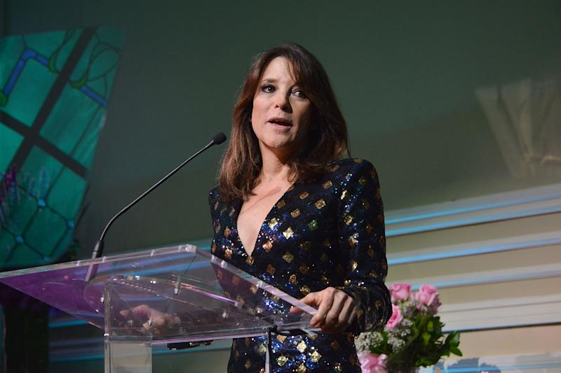 Marianne Williamson attends the Project Angel Food's Angel Awards 2015, Honoring Marianne Williamson & Founding Team as well as Entertainment Industry Foundation at Taglyan Cultural Complex on August 22, 2015 in Hollywood, California. | Araya Diaz—2015 Getty Images