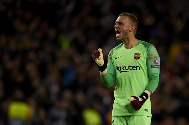 Jasper Cillessen was superb in almost denying Spurs a place in the last 16: NurPhoto via Getty Images