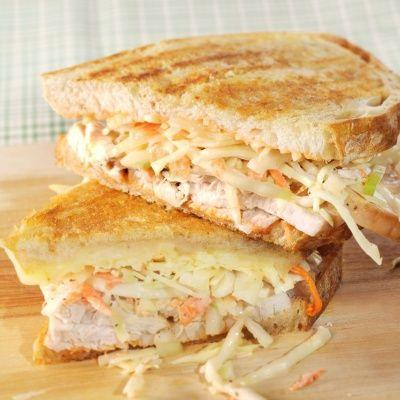 """<p>A turkey-and-slaw version of the classic <a href=""""https://www.delish.com/cooking/recipe-ideas/a23872214/classic-reuben-sandwich-recipe/"""" rel=""""nofollow noopener"""" target=""""_blank"""" data-ylk=""""slk:Reuben"""" class=""""link rapid-noclick-resp"""">Reuben</a>, the flavors of the Rachel sandwich has melt together on toasted rye.</p><p>Get the recipe from <a href=""""https://www.delish.com/cooking/recipe-ideas/recipes/a20035/rachel-sandwich-recipe-mslo1112/"""" rel=""""nofollow noopener"""" target=""""_blank"""" data-ylk=""""slk:Delish"""" class=""""link rapid-noclick-resp"""">Delish</a>.</p>"""