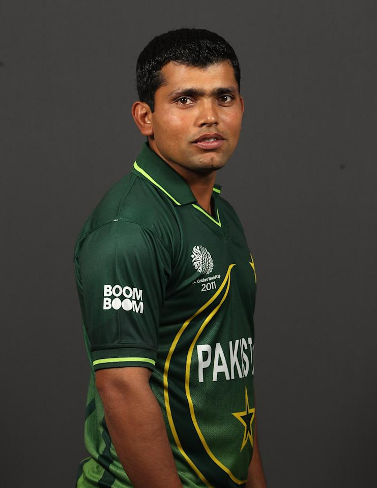 DHAKA, BANGLADESH - FEBRUARY 13:  Kamran Akmal of Pakistan poses for a portrait during the Pakistan Portrait session at the Sheraton Hotel on February 13, 2011 in Dhaka, Bangladesh.  (Photo by Tom Shaw/Getty Images)