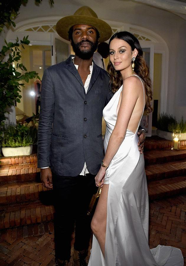 The couple wed last April. Source: Getty