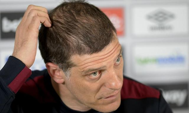 "<span class=""element-image__caption"">West Ham's Slaven Bilic is only interested in steering the team to Premier League safety, with Spurs on Friday 'the only thing' he is thinking about.</span> <span class=""element-image__credit"">Photograph: Avril Husband/West Ham United via Getty Images</span>"