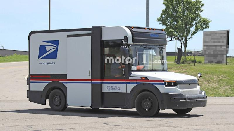 america 39 s next postal truck by karsan spied testing again. Black Bedroom Furniture Sets. Home Design Ideas