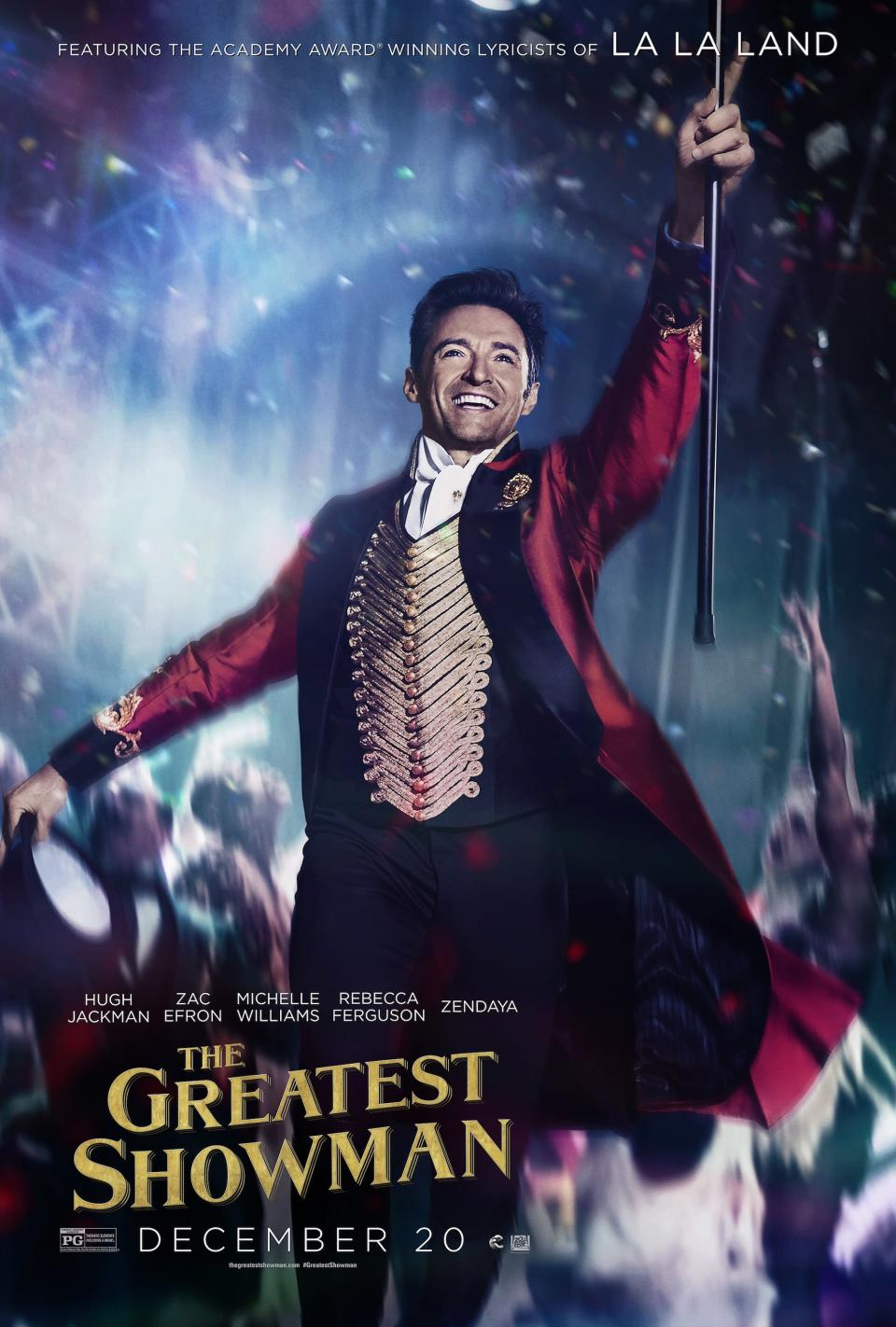 <p>Hugh Jackman as P.T. Barnum in <em>The Greatest Showman. </em>The film tells the story of the 19th century visionary, who rose from nothing to create the world-famous circus. <br>(Image: 20th Century Fox) </p>