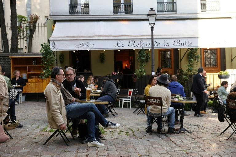 Cafes, restaurants and other businesses re-opened in Paris and other cities after closures during the Covid-19 pandemic