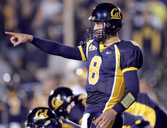 Before becoming a star for the Green Bay Packers, Aaron Rodgers was a two-year starter at Cal. (Photo by Robert B. Stanton/WireImage)