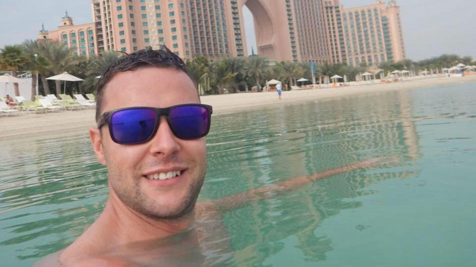 Jamie Harron had been in Dubai for a two-day stopover