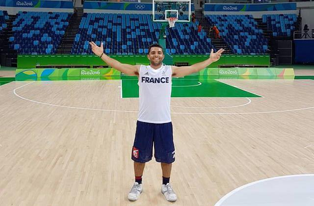 Vitor Galvani is pretty pumped he drew Team France at the Olympics. (Facebook)