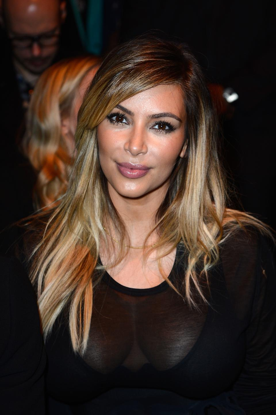 Kim Kardashian auf der Paris Fashion Week. (Bild: Getty Images)