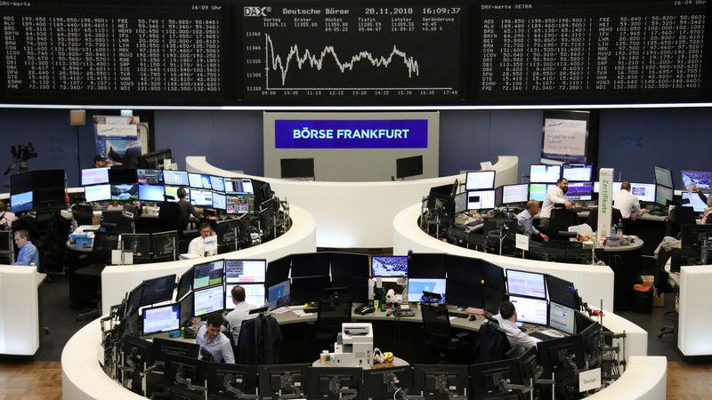 The German share price index DAX graph is pictured at the stock exchange in Frankfurt, Germany, November 28, 2018. REUTERS/Staff