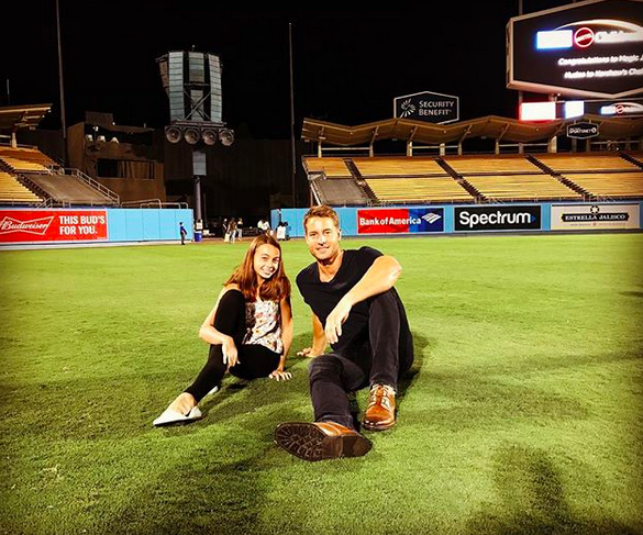 "<p>""<span title=""Edited"">Hangin' at the park with the little one,"" wrote the </span>The <em>This Is Us</em> star. The doting dad spent qualtiy time with daughter, Isabella Justice, 13, at Clayton Kershaw's Ping Pong 4 Purpose Celebrity Tournament on Thursday night at Dodgers Stadium in Los Angeles. (Photo: <a rel=""nofollow"" href=""https://www.instagram.com/p/BXE9dHNBhtT/?taken-by=justinhartley&hl=en"">Justin Hartley via Instagram</a>) </p>"