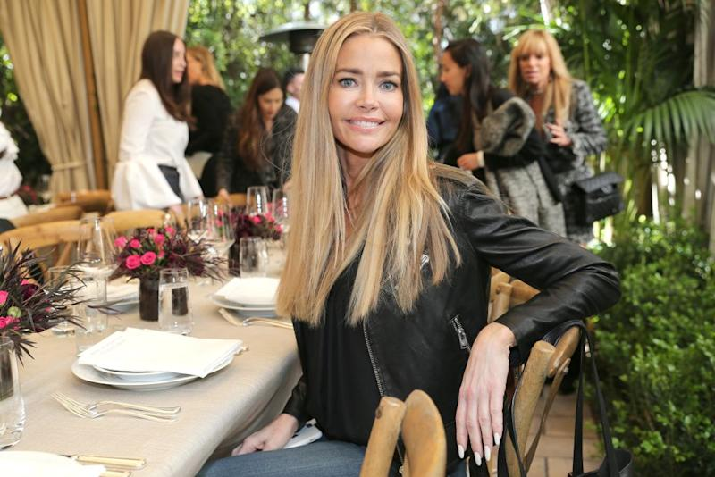 Denise Richards attends the Net-A-Porter lunch at hotel Chateau Marmont on Feb. 24, 2017, in L.A. (Photo: Gisela Schober/Getty Images)